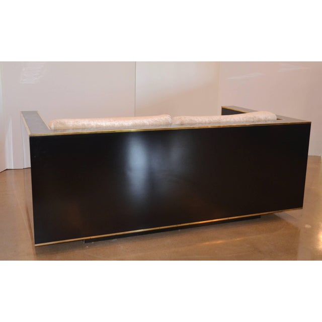 Gold Black and Brass Loveseat, Italy, 1970s, Romeo Rega For Sale - Image 8 of 10