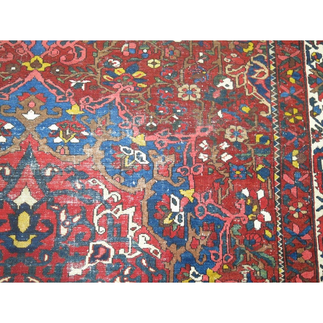 Antique Persian Bakhtiari Rug - 12'3'' X 18'2'' - Image 8 of 9