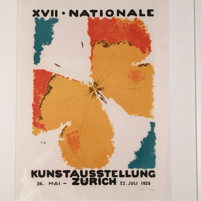 Art Deco Framed Zurich Art Exhibition Poster After Augusto Giacometti For Sale - Image 3 of 8