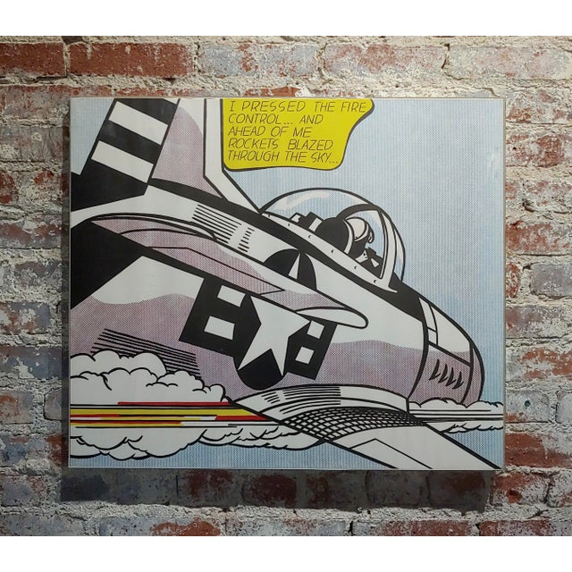 Roy Lichtenstein -Whaam ! - Two vintage Lithographs set vintage paper lithograph professionally framed under lucite frames...