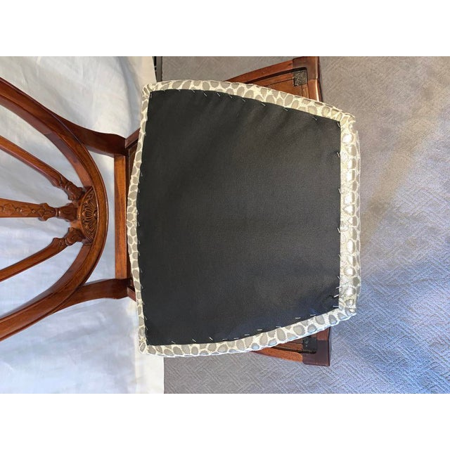 Hepplewhite Style Dining Chairs- Set of 10 For Sale - Image 9 of 13