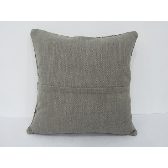 Turkish Turkish Gray Overdyed Vintage Pillow Cover For Sale - Image 3 of 4