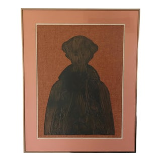 Vintage Framed Bronze Rubbing