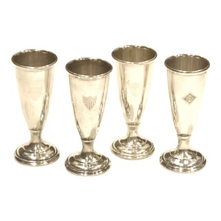 International Silver Vases - Set of 4
