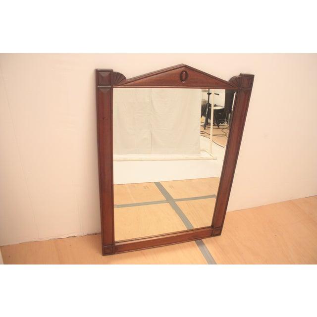 Pediment Detail Beveled Mirror - Image 3 of 11