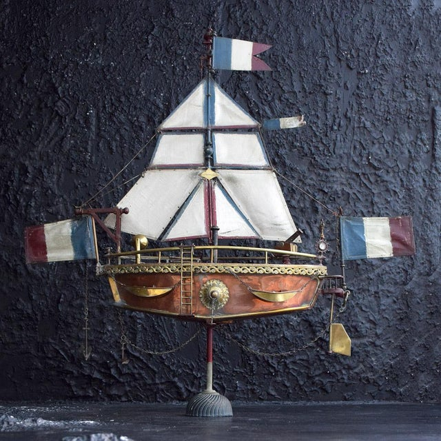 19th Century Votive Copper Sea Vessel For Sale - Image 13 of 13