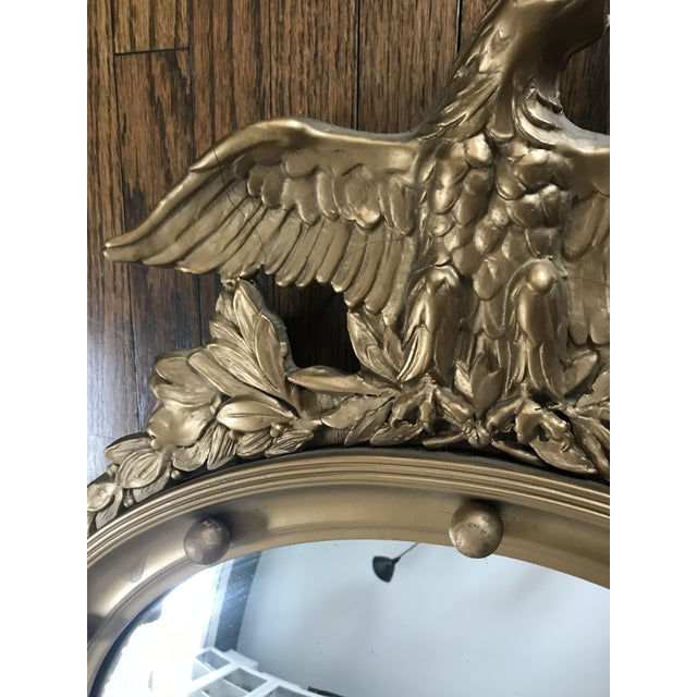 Late 20th Century Vintage Convex Federal Mirror For Sale - Image 5 of 8