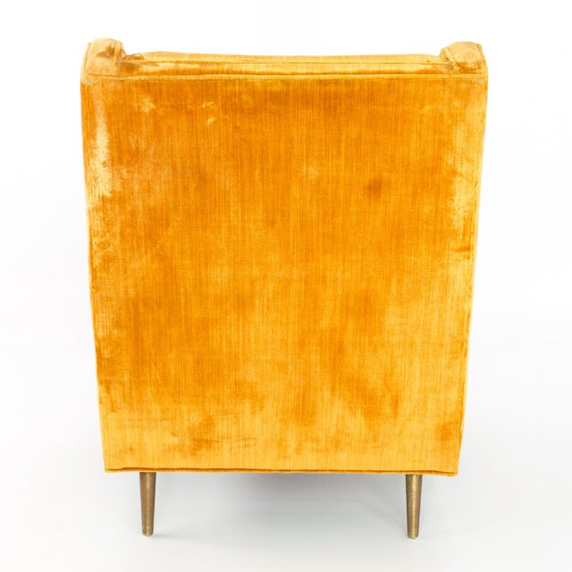 Mid Century Edward Wormley for Dunbar Chair and Ottoman For Sale - Image 11 of 13