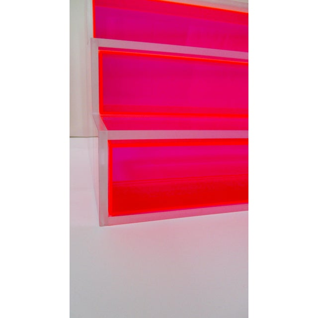 Pink Block Lucite Display Shelving - Image 7 of 10