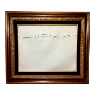 Vintage Carved Edge Gilded Picture Frame For Sale
