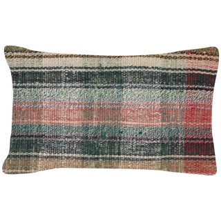 """Nalbandian - Turkish Rag Lumbar Pillow - 12"""" X 20"""" For Sale"""