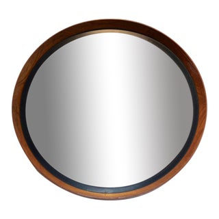 Uno & Östen Kristiansson Teak Mirror by Luxus in Sweden For Sale