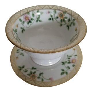 Last Call Art Deco Nippon Condiment Server / Berry Bowl - 2 Pc. Set For Sale