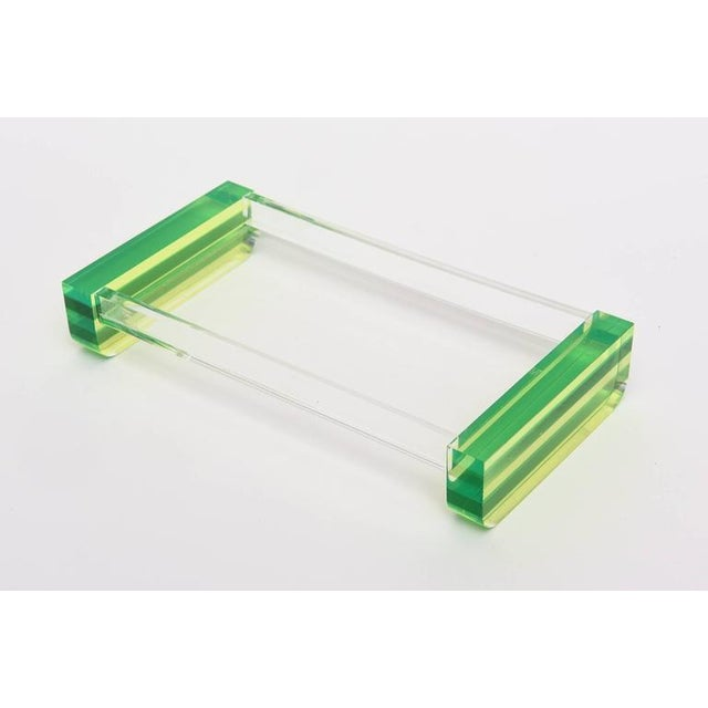 1970s Charles Hollis Jones Style Colored Lucite Two Part Box For Sale - Image 5 of 9