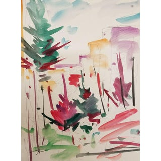 """Jose Trujillo """"Woods Forest Pines"""" Painting For Sale"""