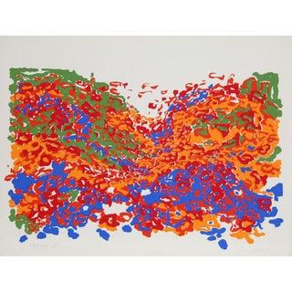 """1979 Nadine Prado """"Untitled - Floral Landscape"""" Print For Sale"""