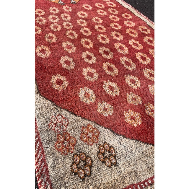 """Abstract 1960s Vintage Gabbeh Runner-3'6"""" X 11'10"""" For Sale - Image 3 of 10"""