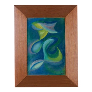 1960s Abstract Pastel Painting For Sale