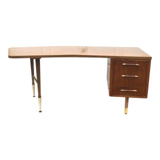 Large Mid-Century Modern Office Desk For Sale