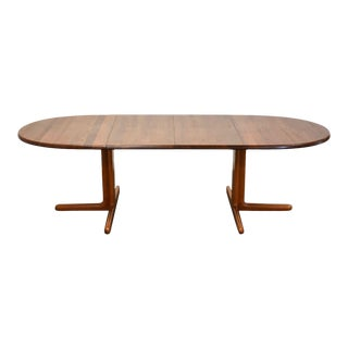 Danish Teak Extendable Oval Dining Table For Sale