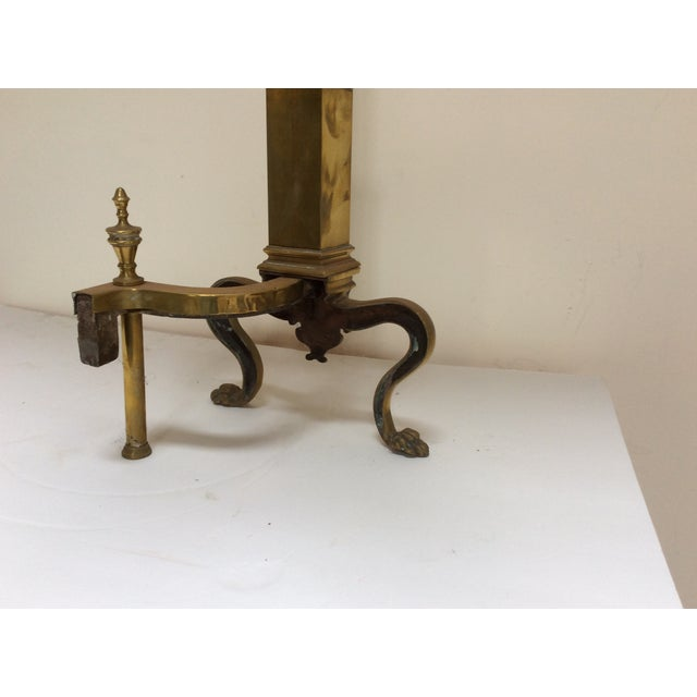 Antique English Fireplace Andirons - a Pair For Sale - Image 4 of 10