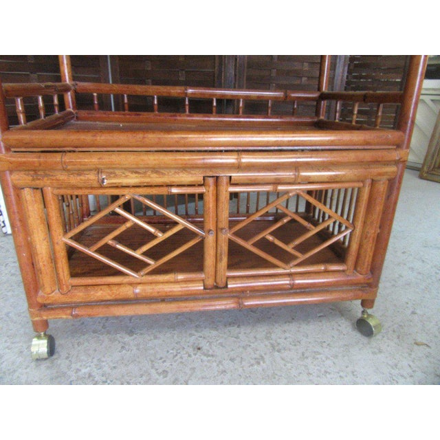 Tortoise Shell Bamboo Cart - Image 3 of 8