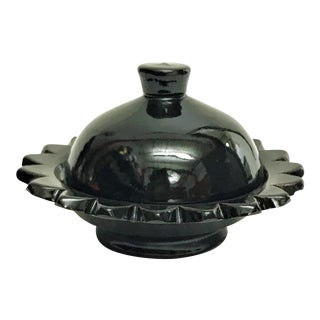 Hand Painted Black Small Moroccan Ceramic Serving Dish