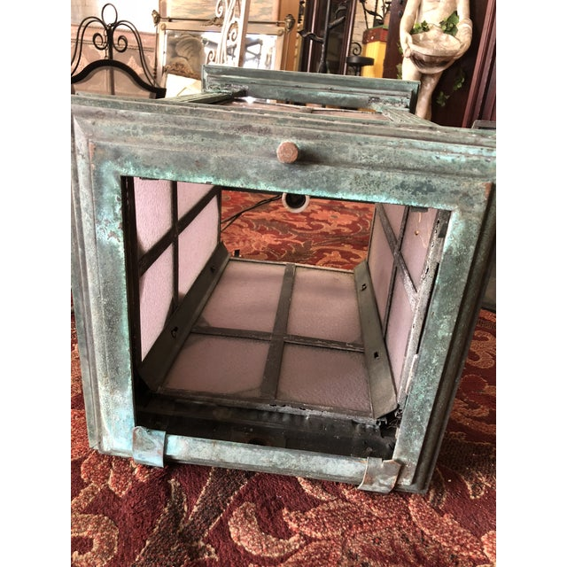 1910s Neoclassical Copper Lantern For Sale - Image 11 of 13