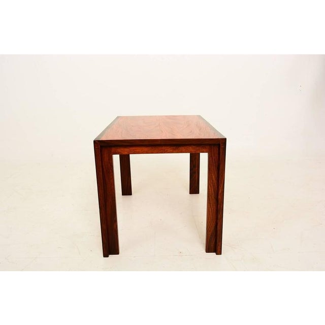 Mid-Century Modern Mid Century Danish Modern Solid Rosewood & Mahogany Side Table For Sale - Image 3 of 6