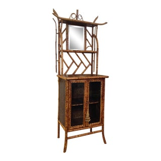 Superb 19th Century English Bamboo Bookcase or Side Cabinet For Sale