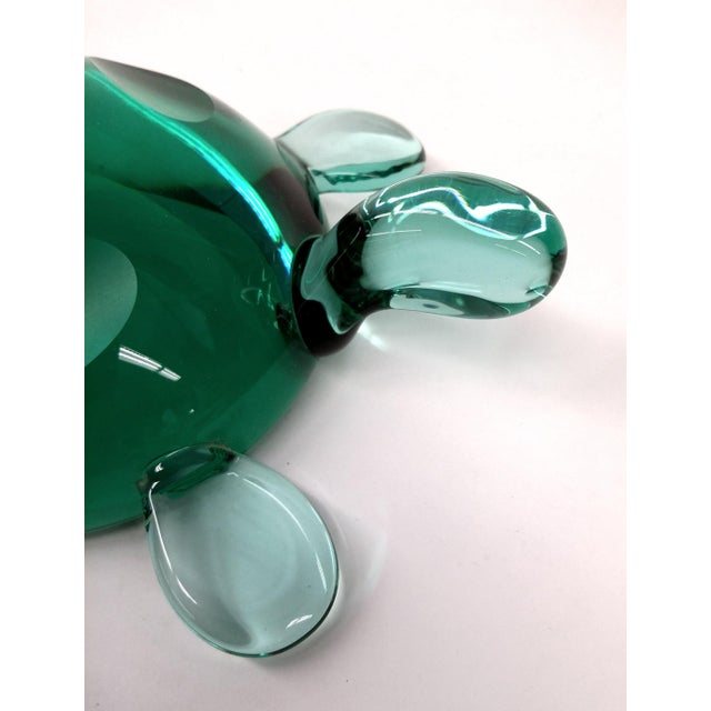 Modern Jade Green Crystal Turtle - Image 4 of 8