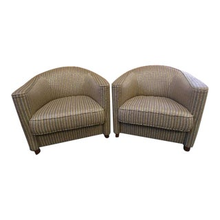 Club Chairs by Brayton International Collection-a Pair For Sale