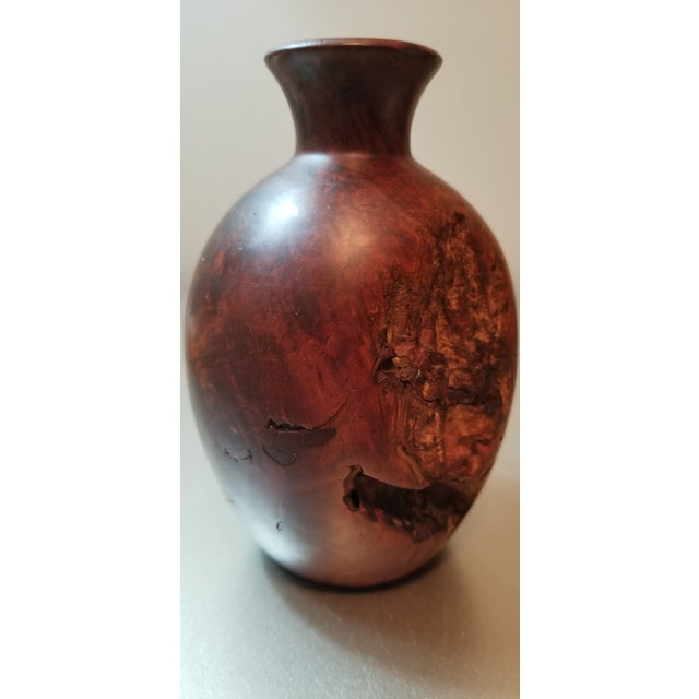 Burl Wood Bud Vase For Sale - Image 4 of 7