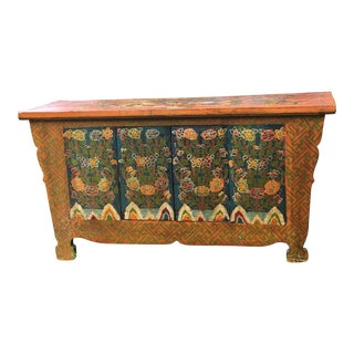 Folk Art Hand Made Dragon Tibetan Chest