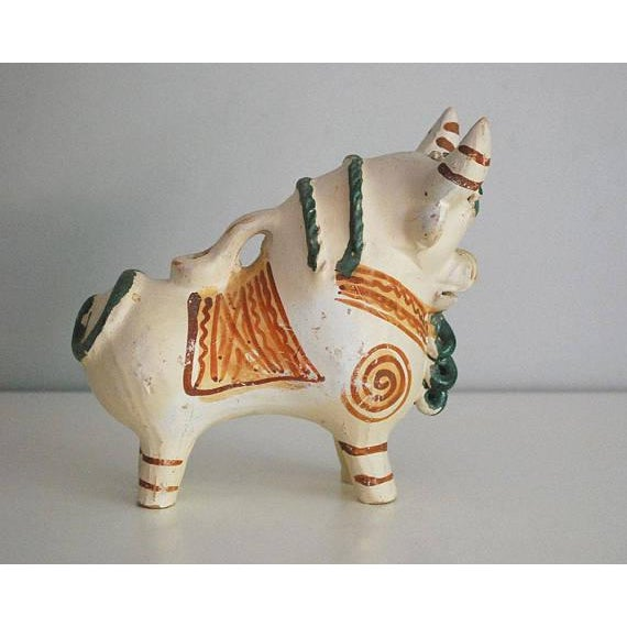 Vintage Peruvian Pottery Bull, Terra Cotta Torito De Pucara - Image 3 of 8