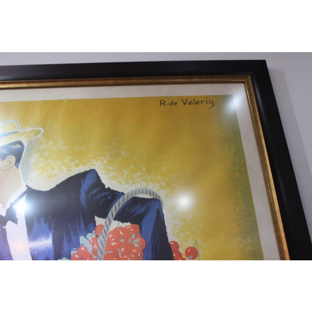 "1930s Cherry Brandy Maurice Chevalier 70"" Lithographic Poster by Roger De Valerio 1935 For Sale - Image 5 of 12"