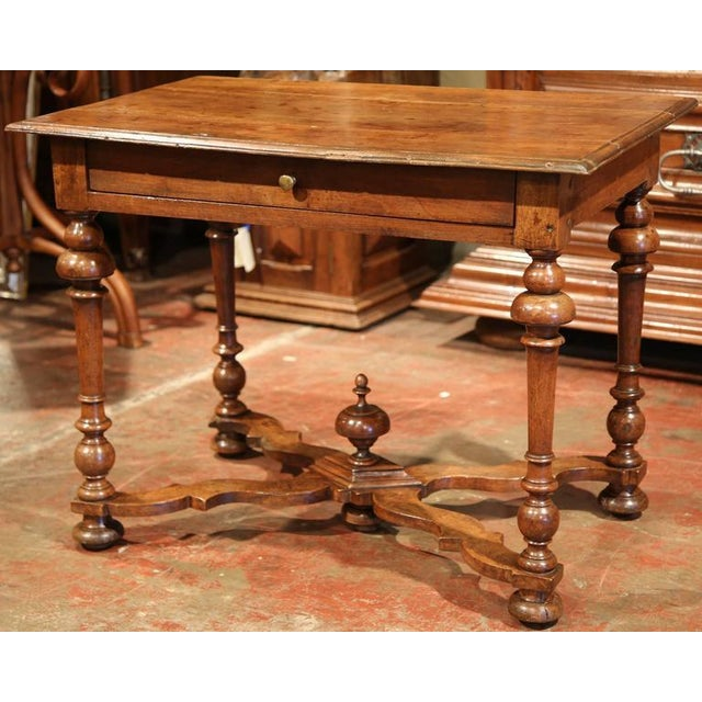 Brown Late 18th Century French Walnut Side Table For Sale - Image 8 of 10