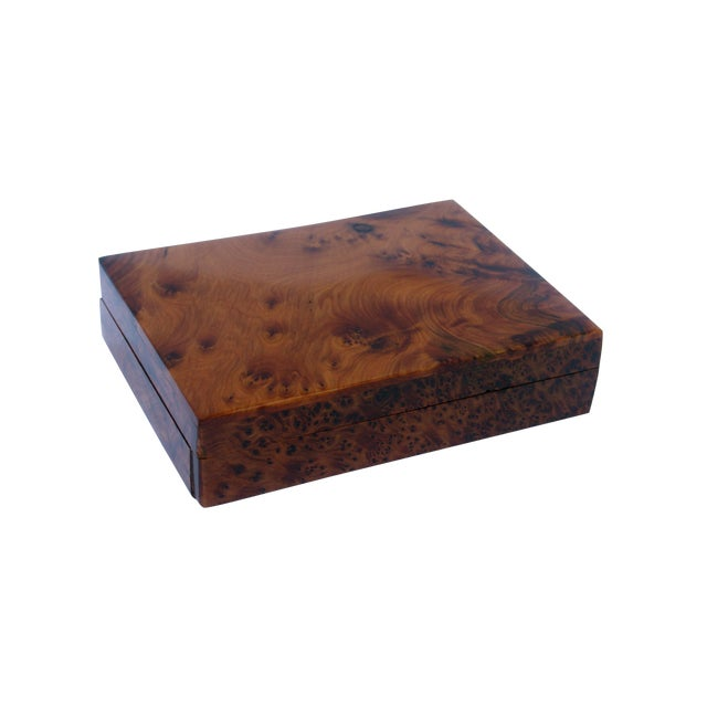Decorative Juniper Burl Wood Box - Image 1 of 8
