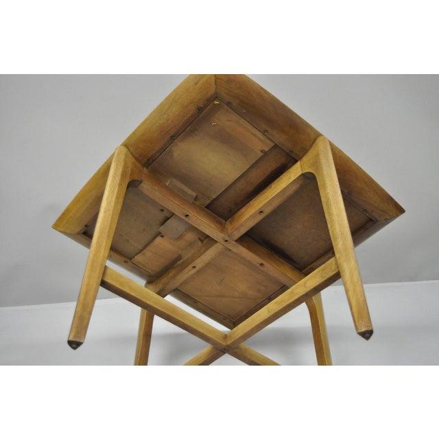 Brown John Keal Brown Saltman Mid-Century Danish Modern Sculptural Walnut Side Table For Sale - Image 8 of 12