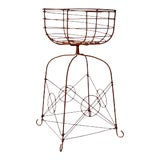Image of Vintage Metal Plant Stand For Sale