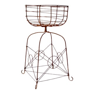 Vintage Metal Plant Stand For Sale
