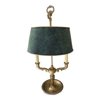 Bouillotte Bronze & Verdigris Lamp For Sale