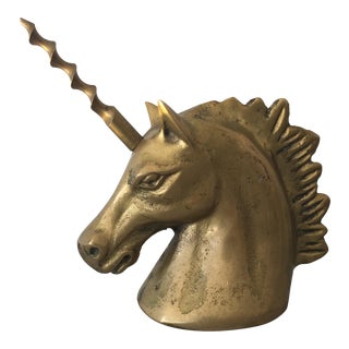 Brass Unicorn Bottle Opener