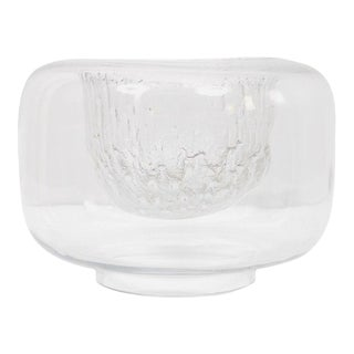 "1960s Timo Sarpaneva Iittala ""Finlandia"" Glass Bowl For Sale"