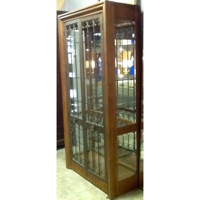 Bernhardt Wood, Glass & Iron Curio Cabinet - Image 5 of 5
