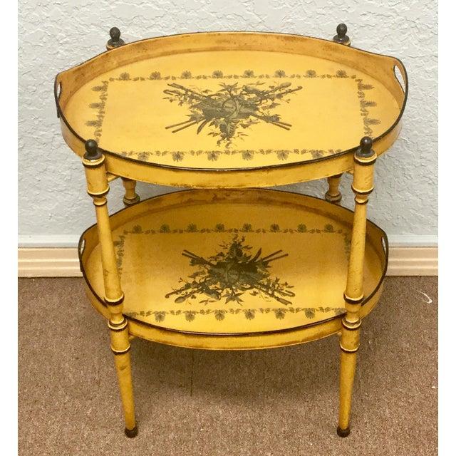 20th Century Italian Yellow Tole Tray Table - Image 11 of 12