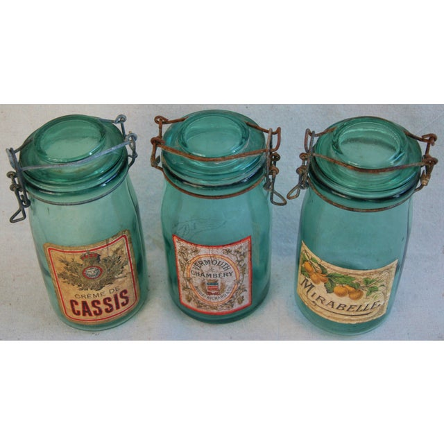 1930s French Labeled Canning Jars - Set of 3 - Image 3 of 6