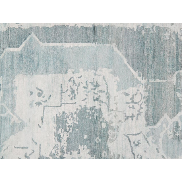 Pasargad N Y Modern Bamboo Silk Hand Knotted Area Rug - 5′8″ × 7′8″ For Sale - Image 4 of 6