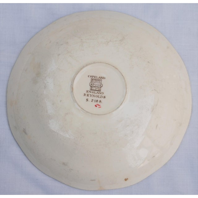 Ceramic Vintage English Cottage Style Spode Saucer in the Reynolds Pattern For Sale - Image 7 of 8