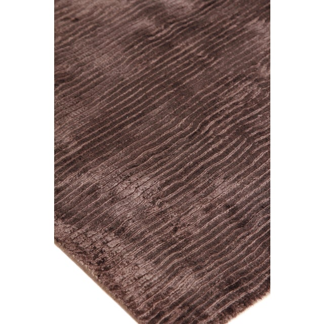 Exquisite Rugs Ives Hand loom Viscose Brown Rug-14'x18' For Sale In Los Angeles - Image 6 of 10